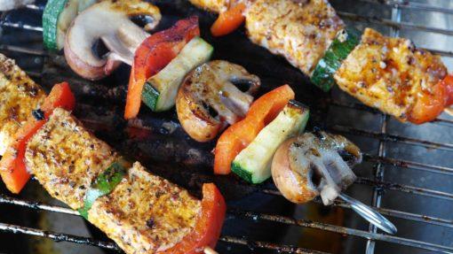Kebab pepper mushroom