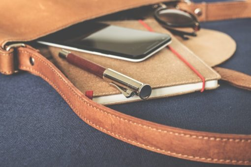 Man Pen Leather Briefcase
